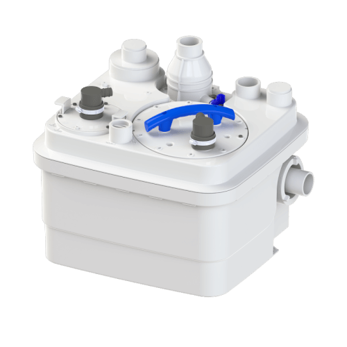 Sanicubic 1 Simplex System, Above the Floor Installation (White) Product Image