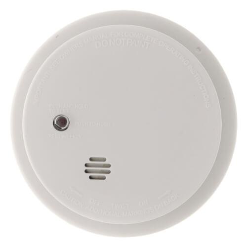 "i9040 9v Battery Operated Micro Unit Ionization Smoke Alarm w/ 5"" Base Plate Product Image"