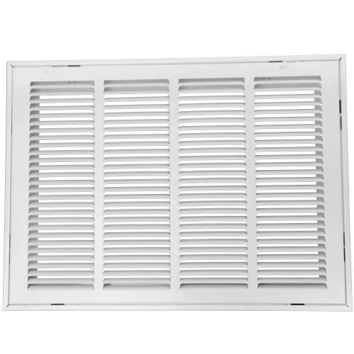 "25"" x 20"" (Wall Opening Size) White Aluminum Return Air Grille, 45-Degree Fixed Blade (RH45 Series) Product Image"