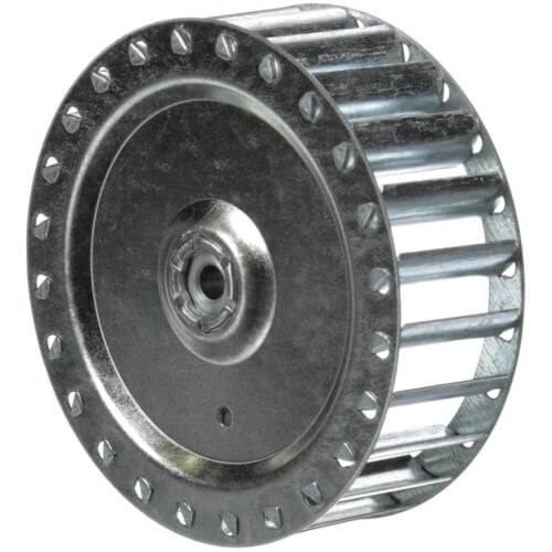 "3-13/16 x 1-1/4 CCW Blower Wheel 1/4"" Bore Product Image"