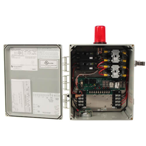 Single Phase Electrical Alternator Duplex Control Panel, 0-20A (NEMA 4 Enclosure) Product Image