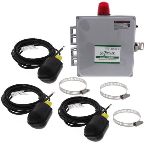 3 Control Float Simplex Pump Control & Alarm System, 15-20A (115/208-230V) Product Image