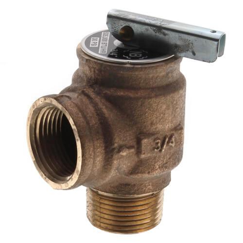 "3/4"" MNPT x 3/4 FNPT RVW10 535,000 BTU Bronze Relief Valve (30 psi) Product Image"