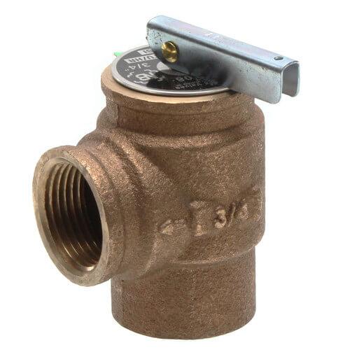 "3/4"" FNPT RVW10 535,000 BTU Bronze Relief Valve (30 psi) Product Image"
