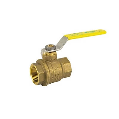 """3/4"""" 2 Piece Full Port Threaded Dezincification Resistant Brass Ball Valve (600 WOG) Product Image"""