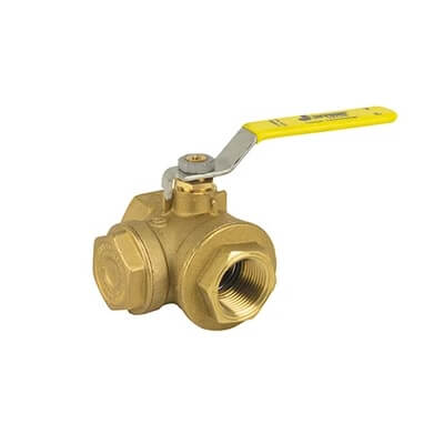 "3/4"" Full Port Threaded Brass Ball Valve with Integrated Strainer (400 WOG) Product Image"