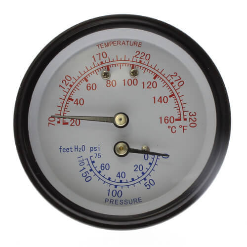 BURNHAM 105894-01 TEMP/PRESSURE GAUGE (REPLACES 100282-01) MC293998