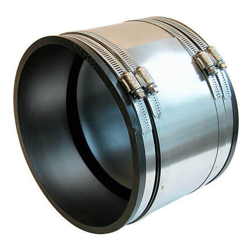 """6"""" x 6"""" Strong Back PVC Shielded Coupling (Concrete to Cast Iron or PVC) Product Image"""