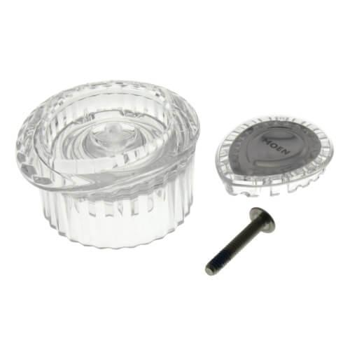 Posi-Temp Knob Handle Kit w/ White and Chrome Insert Product Image