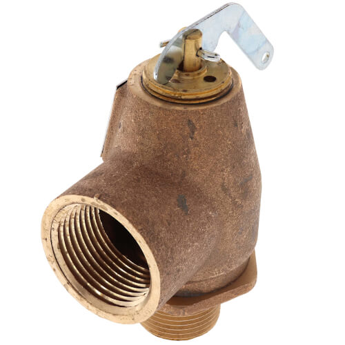"3/4"" MNPT x 1"" FNPT RVW10 710,000 BTU Hot Water Relief Valve, 30 PSIG (Brass Finish) Product Image"