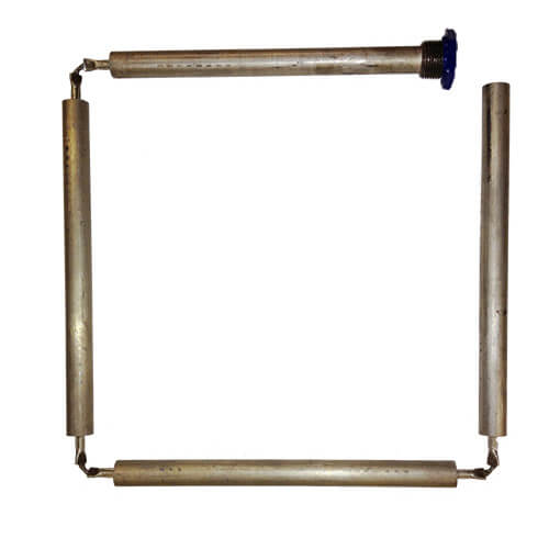 "1-1/4"" x 48"" Blue Lightning Magnesium Anode Rod, Hex Plug, Flexible (4 sections) Product Image"