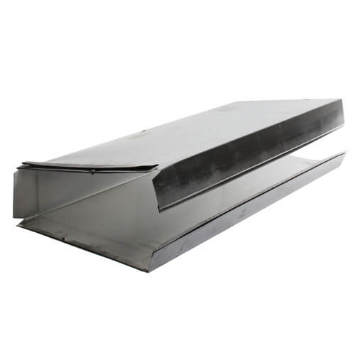 "3.25"" x 10"" Aluminum Duct (24"" Length) Product Image"