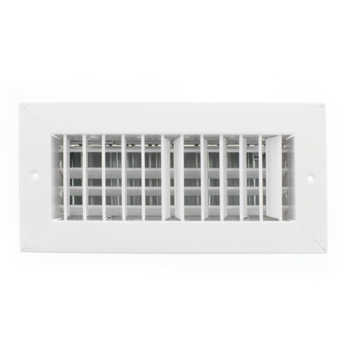 """10"""" x 4"""" (Wall Opening Size) White Supply Register (92VHV Series) Product Image"""