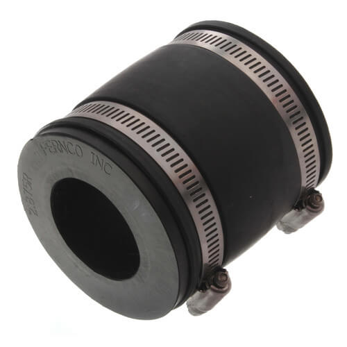 """2-1/2"""" x 1-1/2"""" Flexible Coupling (Connects Cast Iron, PVC, Steel or Lead) Product Image"""
