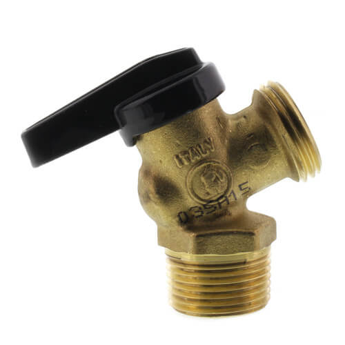 """R-670 3/4"""" MNPT x MGHT Forged Brass Boiler Drain Ball Valve Product Image"""