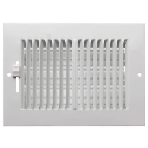 "6"" x 4"" (Wall Opening Size) White Sidewall/Ceiling Register (661 Series) Product Image"