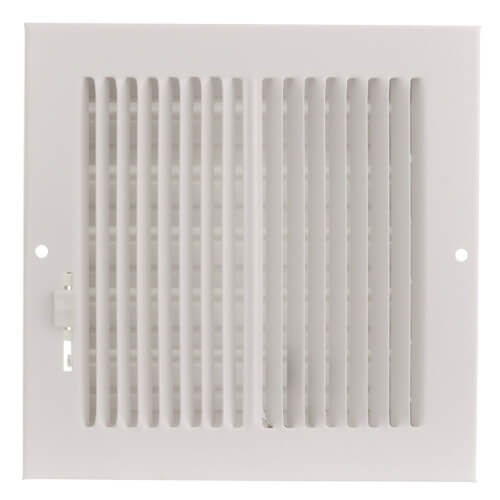 """6"""" x 6"""" (Wall Opening Size) White Sidewall/Ceiling Register (661 Series) Product Image"""