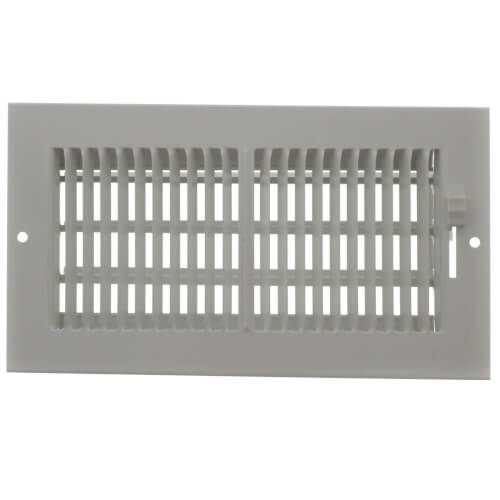 """8"""" x 4"""" (Wall Opening Size) White Sidewall/Ceiling Register (661 Series) Product Image"""