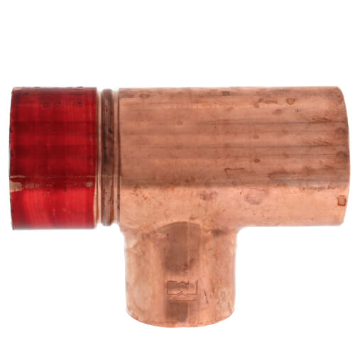 """1"""" x 3/4"""" Copper Red Ring Monoflo Tee Product Image"""