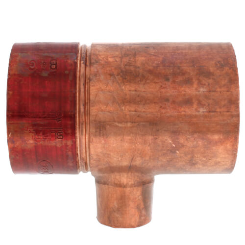 "2"" x 3/4"" Copper Red Ring Monoflo Tee Product Image"