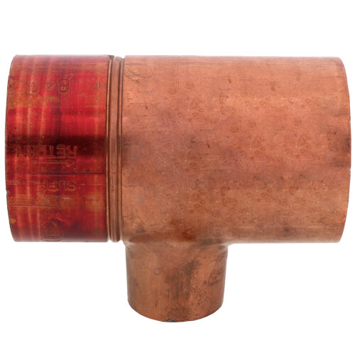 """2"""" x 1"""" Copper Red Ring Monoflo Tee Product Image"""