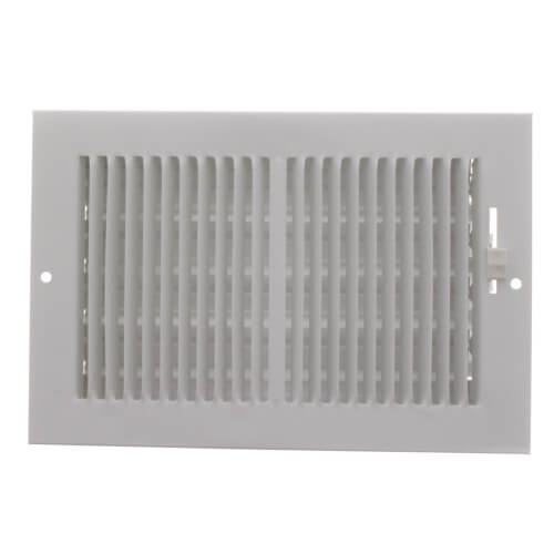 """8"""" x 5"""" (Wall Opening Size) White Sidewall/Ceiling Register (661 Series) Product Image"""