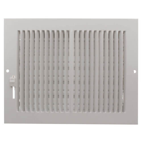 """8"""" x 6"""" (Wall Opening Size) White Sidewall/Ceiling Register (661 Series) Product Image"""