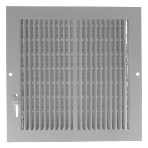 "8"" x 8"" (Wall Opening Size) White Sidewall/Ceiling Register (661 Series) Product Image"
