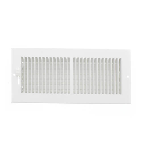 "10"" x 4"" (Wall Opening Size) White Sidewall/Ceiling Register (661 Series) Product Image"