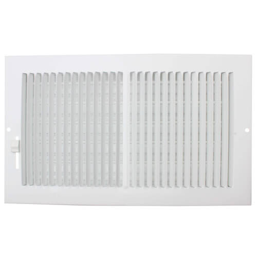 """10"""" x 6"""" (Wall Opening Size) White Sidewall/Ceiling Register (661 Series) Product Image"""