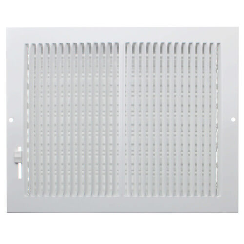 """10"""" x 8"""" (Wall Opening Size) White Sidewall/Ceiling Register (661 Series) Product Image"""