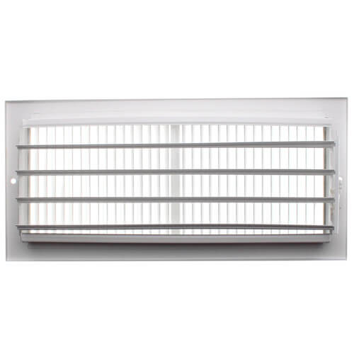 """12"""" x 5"""" (Wall Opening Size) White Sidewall/Ceiling Register (661 Series) Product Image"""