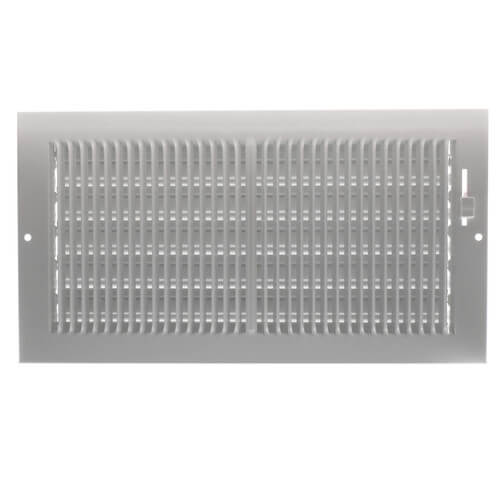 """12"""" x 6"""" (Wall Opening Size) White Sidewall/Ceiling Register (661 Series) Product Image"""