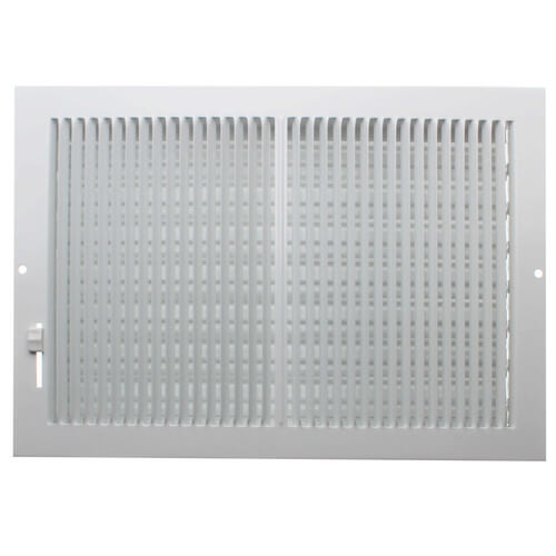 """12"""" x 8"""" (Wall Opening Size) White Sidewall/Ceiling Register (661 Series) Product Image"""