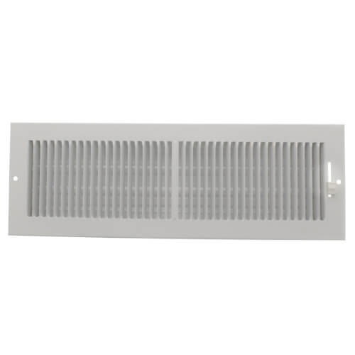 """14"""" x 4"""" (Wall Opening Size) White Sidewall/Ceiling Register (661 Series) Product Image"""