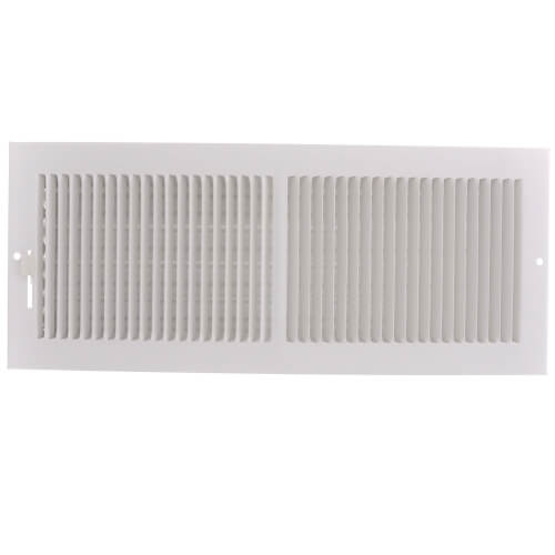 "14"" x 5"" (Wall Opening Size) White Sidewall/Ceiling Register (661 Series) Product Image"