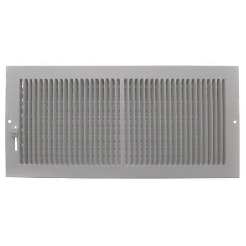 """14"""" x 6"""" (Wall Opening Size) White Sidewall/Ceiling Register (661 Series) Product Image"""