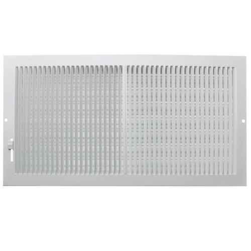 """16"""" x 4"""" (Wall Opening Size) White Sidewall/Ceiling Register (661 Series) Product Image"""