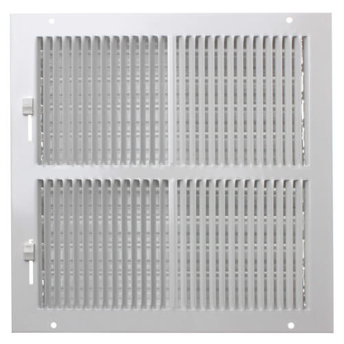 """10"""" x 10"""" (Wall Opening Size) White Sidewall/Ceiling Register (661 Series) Product Image"""