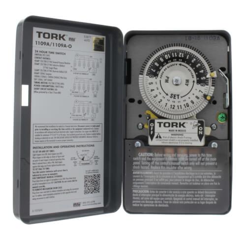 1109A  Tork 1109A  120v 24Hour Timer  DPST