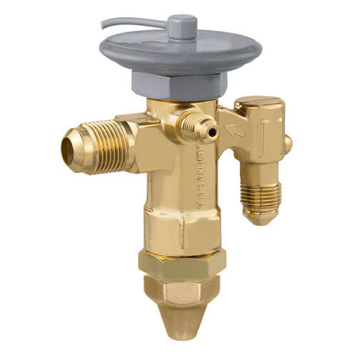 "GJE-1-C 3/8"" x 1/2"" SAE Thermal Expansion Valve w/ 60"" Capillary (1 Ton) Product Image"