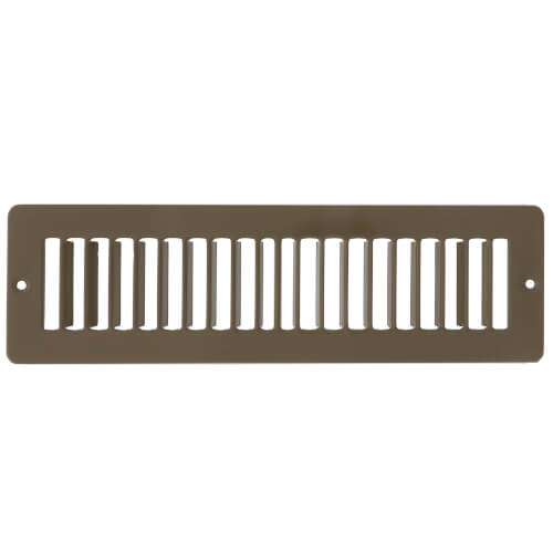 """10"""" x 2"""" (Wall Opening Size) Golden Sand Toe-Space Grille (420 Series) Product Image"""