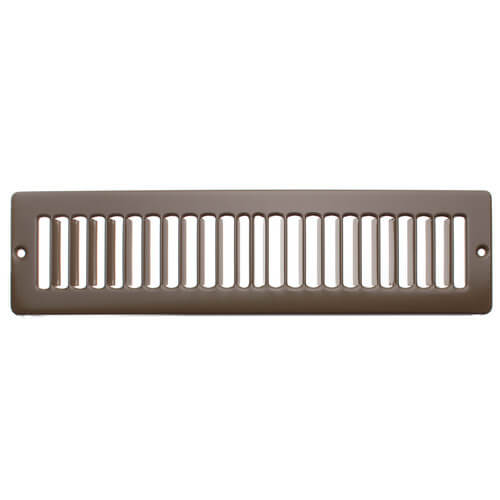 """12"""" x 2"""" (Wall Opening Size) Golden Sand Toe-Space Grille (420 Series) Product Image"""