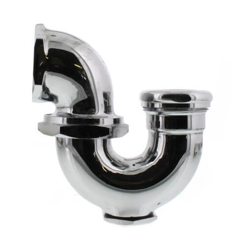 """1-1/2"""" IPS x 1-1/4"""" SJ Nut with Cleanout LA Pattern Trap (Chrome Plated) Product Image"""