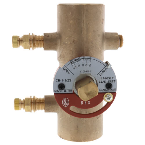 "CB-1 1/2S Lead Free Circuit Setter Balance Valve, 1-1/2"" (Sweat) Product Image"
