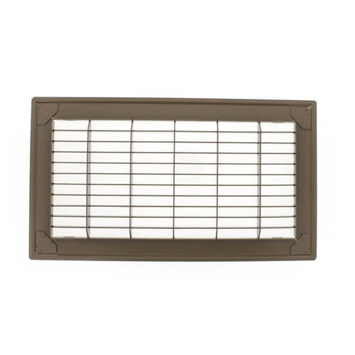 """12"""" x 24"""" (Wall Opening Size) Golden Sand Floor Return Air Grille (265 Series) Product Image"""