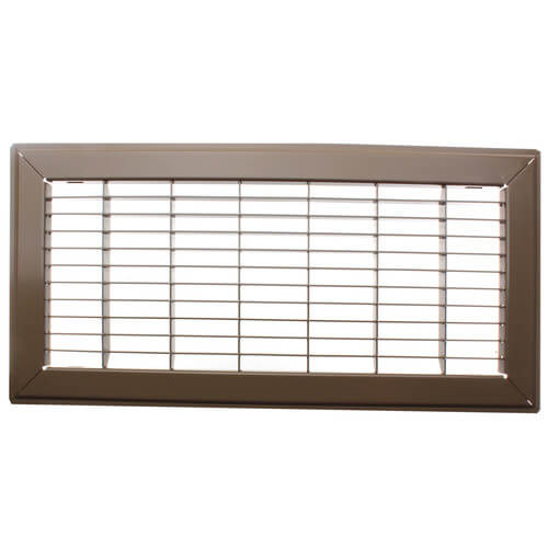 """6"""" x 14"""" (Wall Opening Size) Golden Sand Floor Return Air Grille (265 Series) Product Image"""