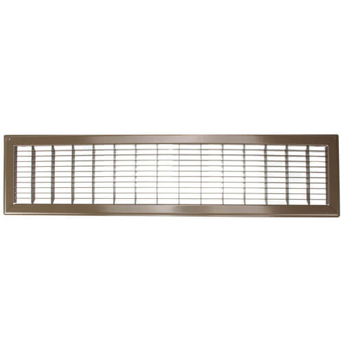"""6"""" x 30"""" (Wall Opening Size) Golden Sand Floor Return Air Grille (265 Series) Product Image"""