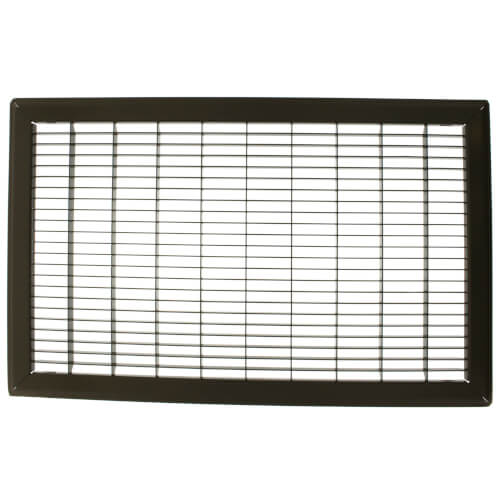"""12"""" x 20"""" (Wall Opening Size) Golden Sand Floor Return Air Grille (265 Series) Product Image"""