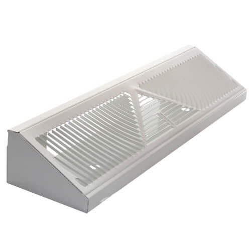 "18"" White Baseboard Return Air Grille (407 Series) Product Image"